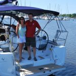 Happy owners of a Jeanneau 349