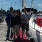 Happy owners of a Jeanneau 44 DS