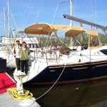 Happy owners of a Jeanneau 50 DS