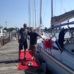 Happy owners of a Jeanneau 349 Sun Odyssey