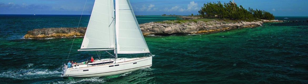 Jeanneau Sun Odyssey 479 sailing along the islands